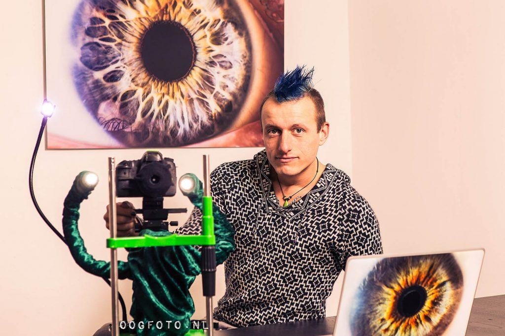 Oogfoto zelfportret amsterdam studio atelier