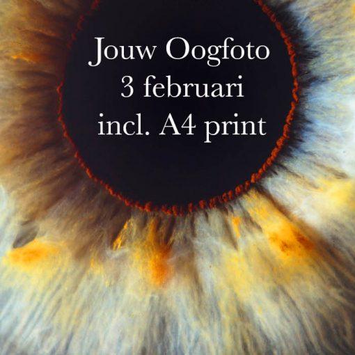 Oogfoto 3 februari Amsterdam oogfotografie uniek persoonlijk oog cadeau